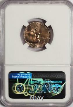 2005 D NGC MS65 Improperly Annealed Planchet Bison Nickel Mint Error Pinkish