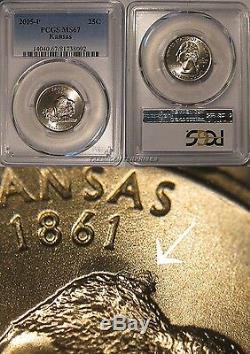2005 P Kansas State Quarter 25c HUMPBACK Bison PCGS MS67 Business Strike