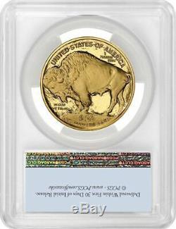 2020-W $50 Proof Gold Buffalo FS Bison Label PCGS PR70DCAM