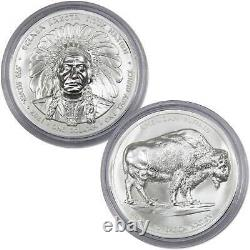 2021 Oglala Lakota Sioux Nation Sitting Bull Bison 1 oz. 999 Fine Silver $1 Coin