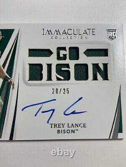 2021 Panini Immaculate Trey Lance #110 Autograph Auto RPA #/25 Go Bison Rookie