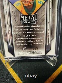 2021 leaf metal draft Trey Lance /30 Blue Investment 49ers Bison