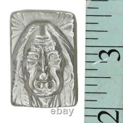 3 Troy Ounce. 999 Fine Silver Hand Poured Bison Bullion Premium Bar Wise Indian