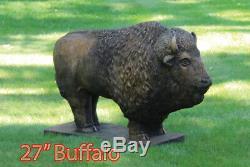 36 Buffalo Outdoor Concrete Garden Statue Western Great Water Buffalo Bison