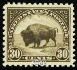 569, Mint Superb NH 30¢ Bison A GEM Stuart Katz