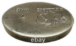 7 Troy Ounce. 999 Fine Silver Hand Poured Bison Bullion Standard Round Nebraska