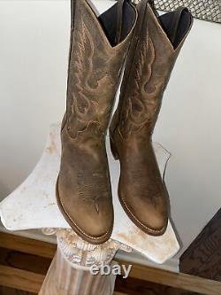 ABILENE BISON Brown Leather Cowboy Western Boots Mens Size 11.5EE NEW (OTHER)