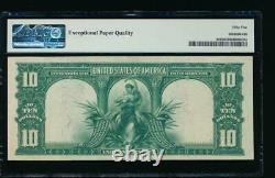 AC Fr 119 1901 $10 Legal Tender PMG 55 EPQ. BISON