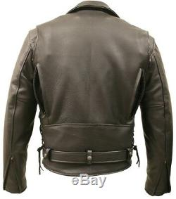 American Bison Motorcycle Leather Jacket With Vents