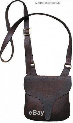 BLACK POWDER MUZZLELOADING PRIMITIVE BISON LEATHER POSSIBLES BAG made in usa