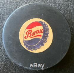 BUFFALO BISONS AHL VINTAGE OFFICIAL GAME PUCK C. C. M CONVERSE MADE IN 1960s