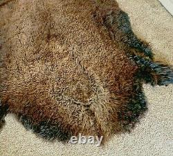 Beautiful Buffalo Bison Hide Robe Blanket Rug Soft And Cozy, Make an offer