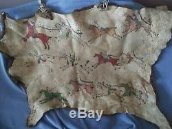 Bison / Buffalo Rug With Indian Painting
