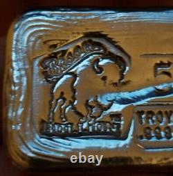 Bison Bullion 5-oz Silver Bar. 999 Fine Silver BullionSilver is Rising