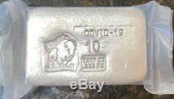Bison Bullion C-19 10 Oz Silver Bar Mint Sealed Only 120 Mintage