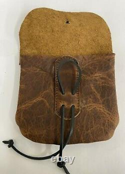 Bison Leather Muzzleloader Possible Bag And Ball Bag Belt Pouch Made In The USA
