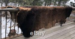 Bison Pelt / Hide 5' x 9' 16.8 lbs Craft Grade Free Shipping Pre-Owned