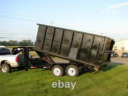 Brand New Rolloff Trailer Includes 1 15 Yard 14' Roll off Container