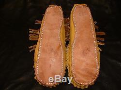 Buffalo Men's Size 11 Pawnee Style Moccasins Western Cowboy indian Bison Leather