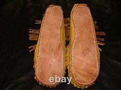 Buffalo Men's Size 13 Pawnee Style Moccasins Western Cowboy indian Bison Leather