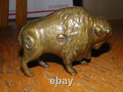 Cast Iron Arcade Bison Buffalo Still Bank 4.5 Good Looking Bank Take A Look