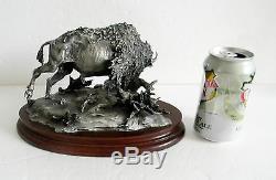 Chilmark pewter figurine of bison Prairie Sovereign Boyett