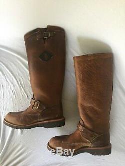 Chippewa 17 Phalaris Bison Leather Snake Hunting Motorcycle Boot Men Size 7.5D