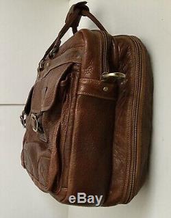 Coronado Bison Leather Carry On Travel Bag