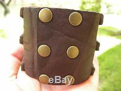 Cuff Bracelet Buffalo Leather bone Bison Head nice gift for Buffalo Bills fans