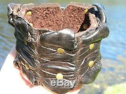 Cuff bracelet genuine Alligator Crocodile skin horn Bison leather adjustable