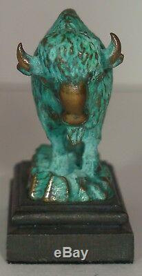 Daniel Phillip Kronberg DH Miniature Bronze Great American Bison Large Sculpture
