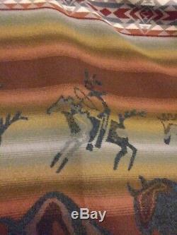 EXC 60x 61 Pendleton Buffal Hunt Blanket Throw Rustic Buffalo Bison