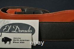 El Dorado Durango Suave Genuine North American Bison Whiskey Guitar Strap 40''-5