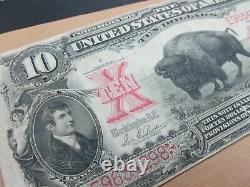 FR 119 1901 $10 Legal Tender Bison Note VF Parker/Burke 298