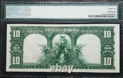 FR 119 1901 $10 Legal Tender Bison PMG VF 35