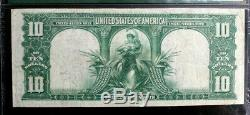 Fr-120 $10 1901 Bison Large Size Legal Tender Pmg 25 Very Fine Free Shipping