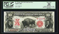 Fr. 121 1901 $10 Star Bison Mule Legal Tender Note Pcgs Very Fine-30