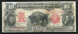 Fr. 122 1901 $10 Ten Dollars Bison Legal Tender United States Note Vf (g)