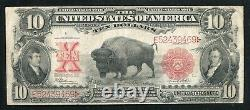 Fr. 122 1901 $10 Ten Dollars Bison Legal Tender United States Note Vf (i)