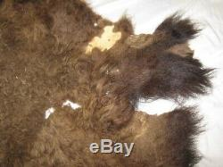 GENUINE TANNED AMERICAN BUFFALO / BISON HIDE RUG appx. 54 Wide X 54 Long