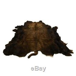 Hair on Bison Rug Tanned Hide New Buffalo Robe 72 x 60