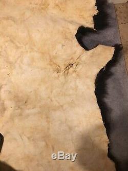 Huge Buffalo Bison Soft Tanned 68x66Hide Blanket/Rug