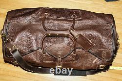 J. W. Hulme Co. American Bison Leather Large Duffle Bag Luggage 26'