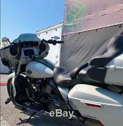 KST Kustoms Denim Satin Black 12 Bison Bagger Handlebars Bars Harley Touring