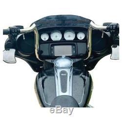 KST Kustoms Polished 14 Bison Bagger Handlebars Bars Harley Touring Batwing 96+
