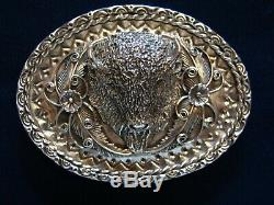 Kenny Ray McNeilley, Jr. Sterling Silver American Bison (Buffalo) Belt Buckle