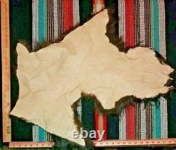 (Large Sizes) Premium Bison Buffalo Scrap Fur Hide Leather New Tanned Soft Tan
