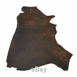 Leather Bison Hide Side 22.2 Sq Ft Real McCoy Chocolate 6-7 oz