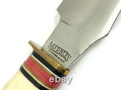 Marble's Bison Knife Stag Handle Stag Pommel Vintage + Sheath Box 5177-LMX