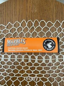 Marble's Marbles Bison Fixed 5 Blade Knife Sheath Box NOS Gladstone, MI USA